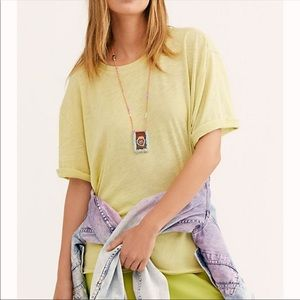 Free People We The Free Citron Cassidy Basic Tee S